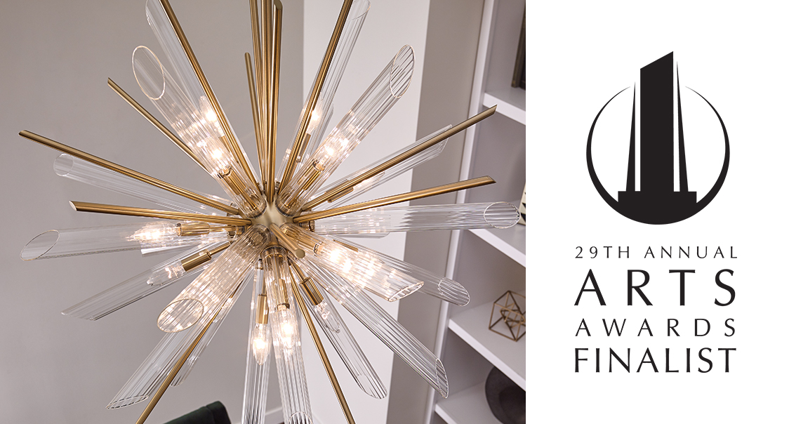 Quorra Collection Contemporary Chandelier by Feiss